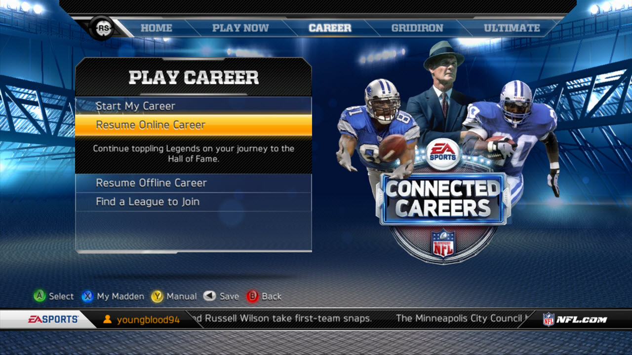 madden 13 xp in cc mode