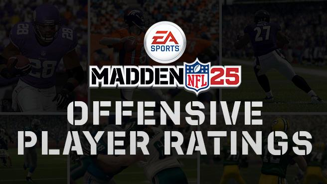 madden 25 offensive player ratings