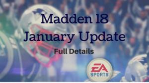 Madden 18 January update