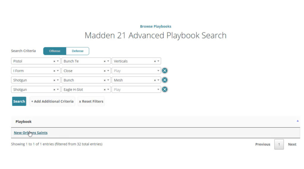 Madden 21 playbook search