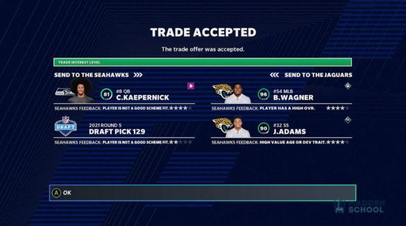 Madden 21 trades